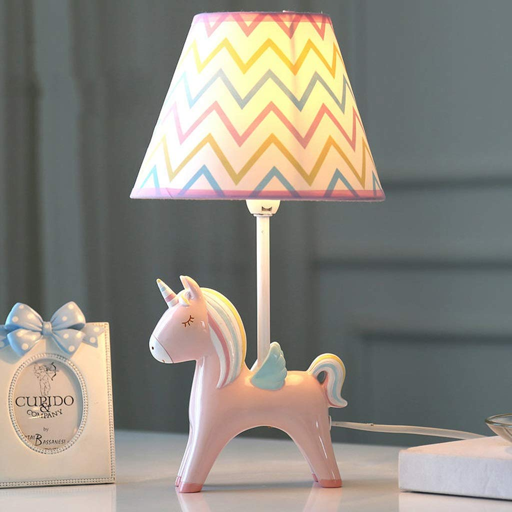 Unicorn LED Table Lamp Bedroom Bedside Lamp - Pink with Shade