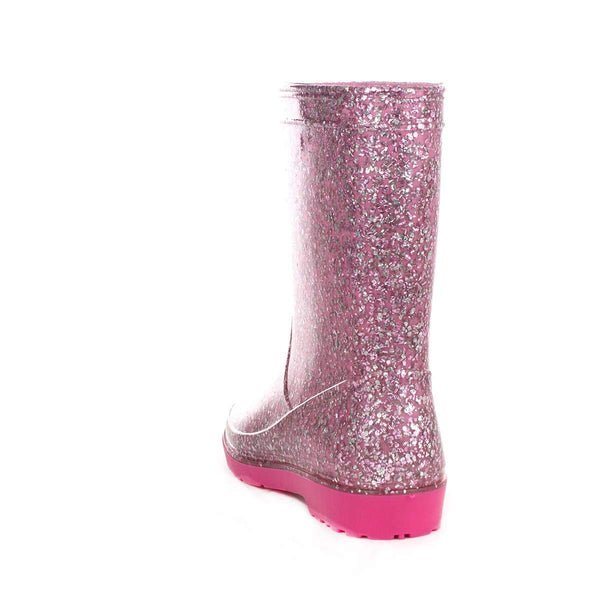 ZONE - Kids Pink Unicorn Glitter Welly - Size 11 Child UK - Pink