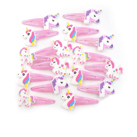 Unicorn Party Bag Fillers - Unicorn Girl Hairclips Hair Slides UK
