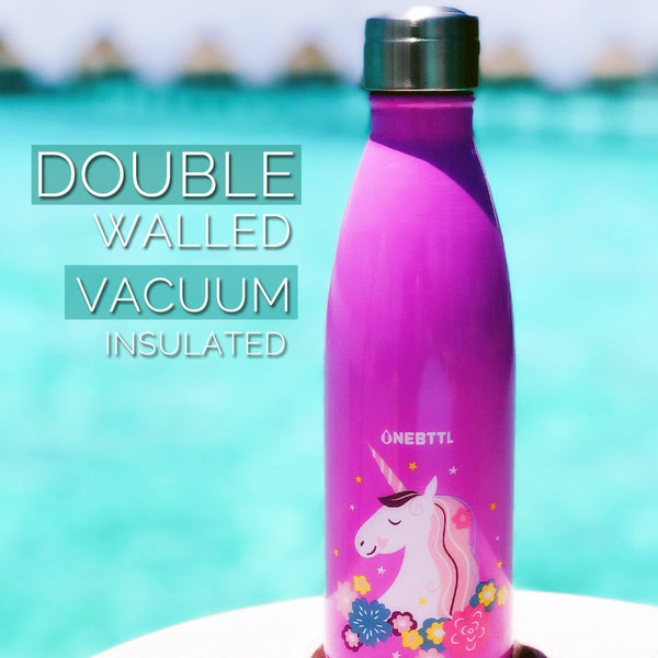 Kids Water Bottle for Hot or Cold Drinks - Unicorn Water Bottles
