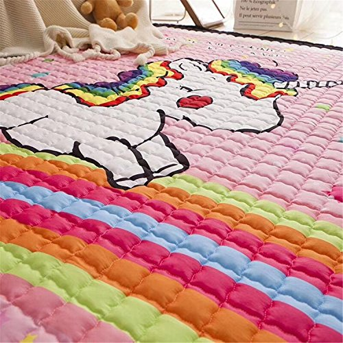 Rainbow Themed Room: Large Rainbow Unicorn Themed Rug 195 X 145cm