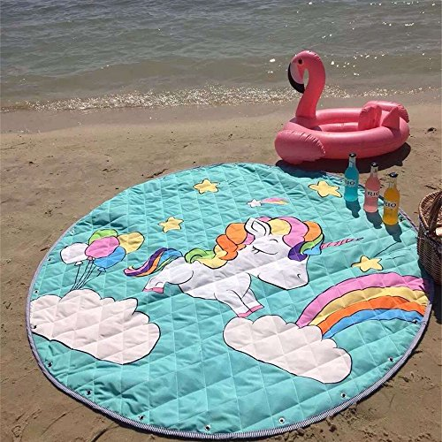 Outdoor unicorn play mat and toy storage all-in-one