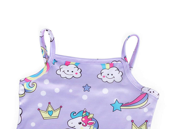 unicorn design themed swimsuit for girls and toddlers