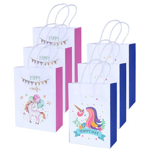 12 Pack Unicorn Paper Gift Bags Unicorn Party