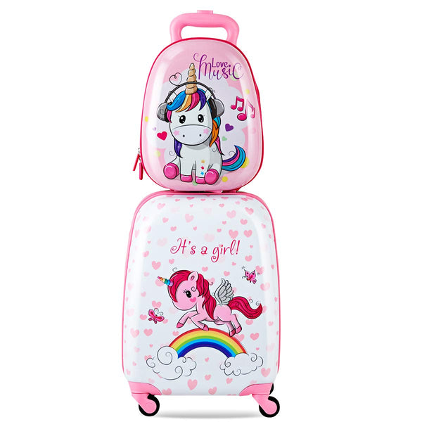 unicorn suitcase luggage set