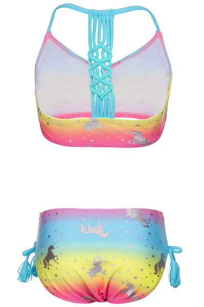 unicorn tankini swimwear - kids