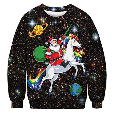 Unisex Christmas Jumpers | Unicorn Santa Design