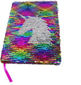 Unicorn Sequin Notebook Rainbow Sequins Journal Girls
