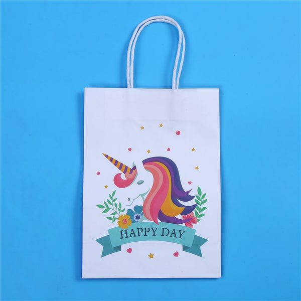 12Paper Gift Bags Unicorn Party