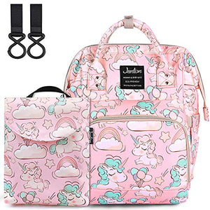 Pink Unicorn Design Baby Changing Bag | Back Pack Style Baby Bag