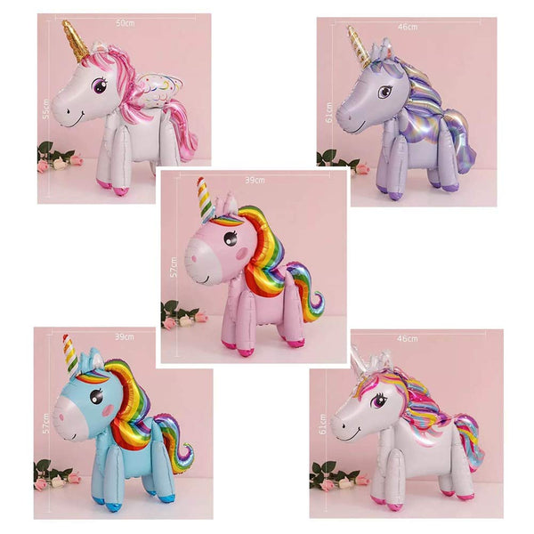 standing unicorn balloon 5 pack