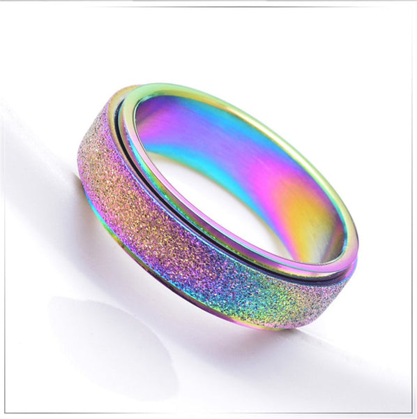 Rainbow Unicorn Ring For Girls and Women - Glittery Sparkle