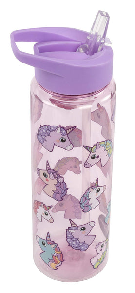 unicorn drinks water bottle