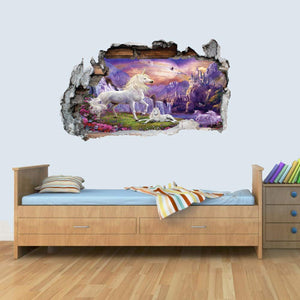 Large unicorn wall art sticker