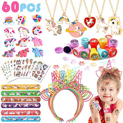 60Pcs Unicorn Party Bag Fillers | Kids Party | Unicorn Gifts