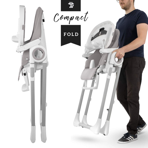 Foldable Unicorn Highchair - Grey
