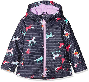 Joules Girls Navy Raincoat | Unicorns Ponies