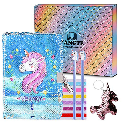 Unicorn Magic Sequin Journal | With Lock | Gift Idea