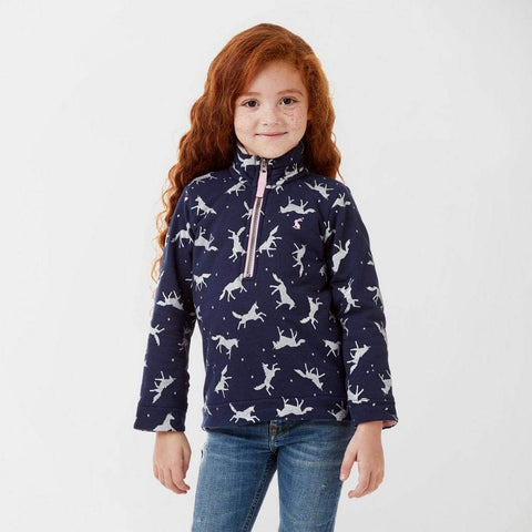 Joules Fairdale Cute Unicorn Zip-up Hoody Jacket / Jumper For Kids Girls