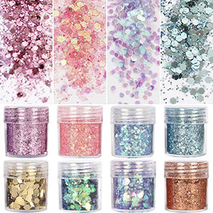 8 Boxes Unicorn Glitter