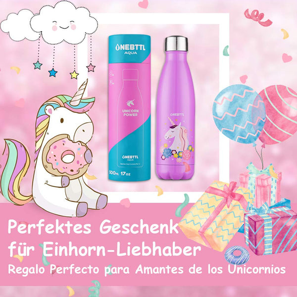 Water Bottle for Hot or Cold Drinks - Unicorn Water Bottles