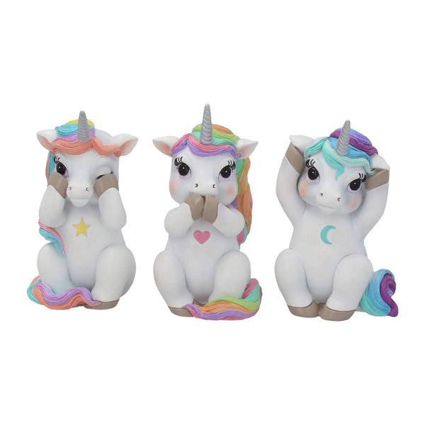 Three Wise Unicorns Ornament Figurine Set