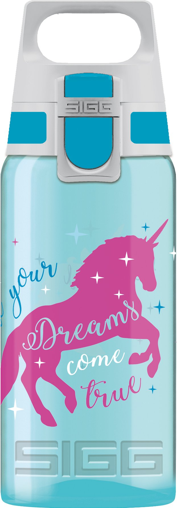 Blue and Pink Unicorn Water Bottle - Non Leak