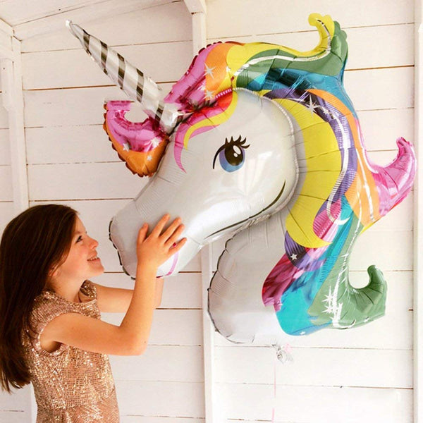 unicorn head balloon decoration
