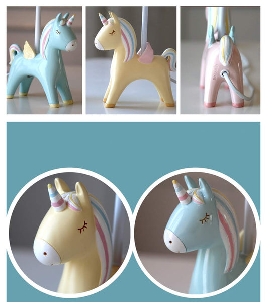 Unicorn LED Table Lamp Bedroom Bedside Lamp - 3 Colours