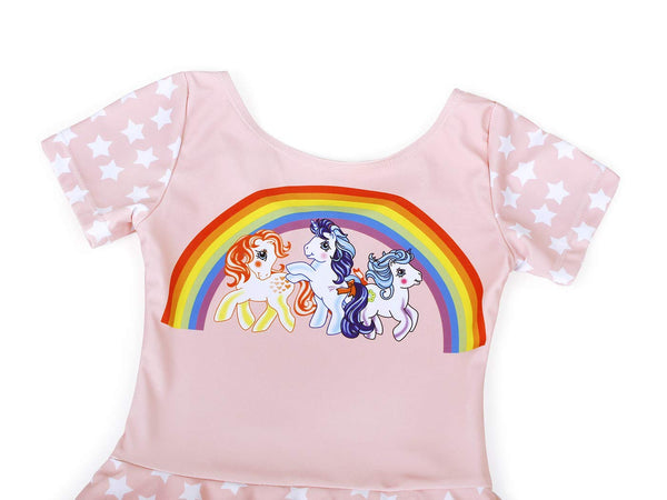 unicorn rainbow themed swimming costume