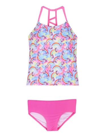 unicorn girls swimsuit tankini