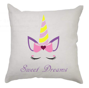 Kooky Kids Unicorn Cushion Cover 40cm x 40cm - Sweet Dreams
