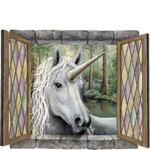 unicorn art window sticker graphics