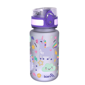 Ion8 Kids' Leak Proof Water Bottle BPA Free, Unicorns, 350 ml