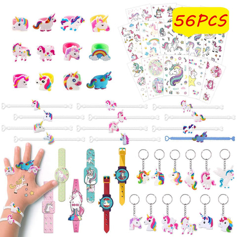 unicorn party bag fillers - 56 set