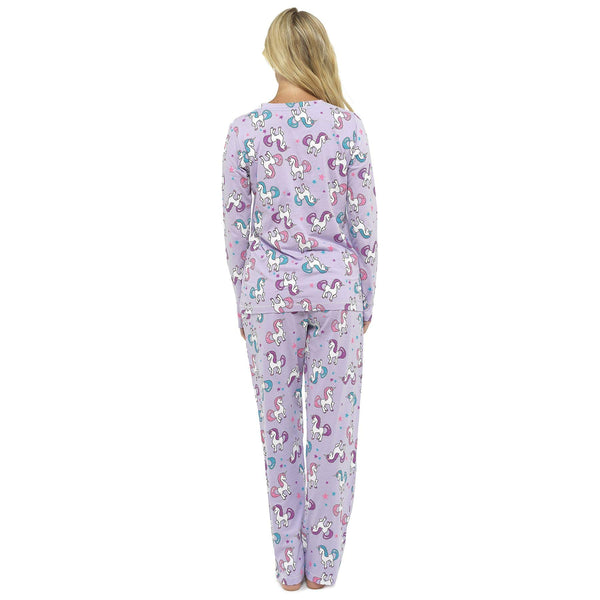 Daisy Dreamer Women's Pug and Unicorn Pyjamas, LN841, Unicorn, 12/14