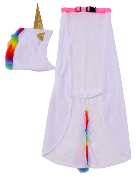 Unicorn Cape with Hood and Light-Up Collar Dog Costume