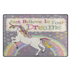 "Unicorn Rug Small Floor Mat 1'7"" x 2'6""Mat for Office Home Living Dining Room"