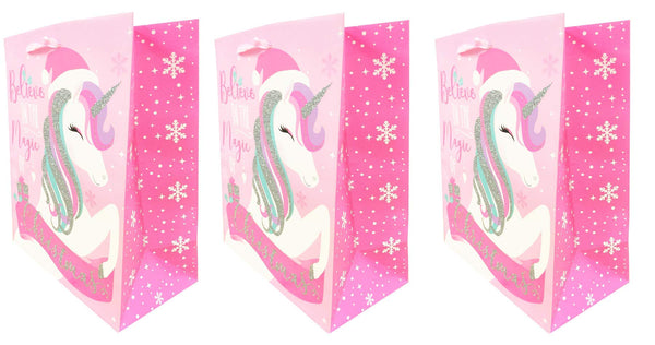 Unicorn Christmas Gift Bag Large
