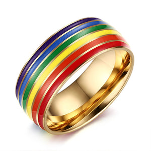 Unicorn Rainbow Coloured Ring