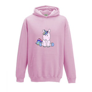 Luvponies Stuart The Unicorn Kid's Hoody (Baby Pink)