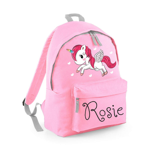 Personalised Unicorn Backpack For Kids - Light Pink