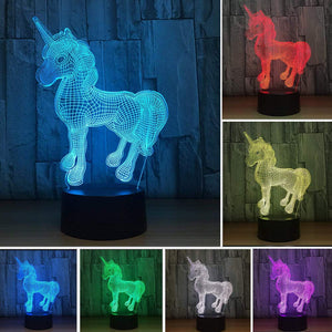 Unicorn Illusion Lamp - Colour Changing with Remote Control