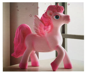 Unicorn Night Light Table Lamp - Pink and White