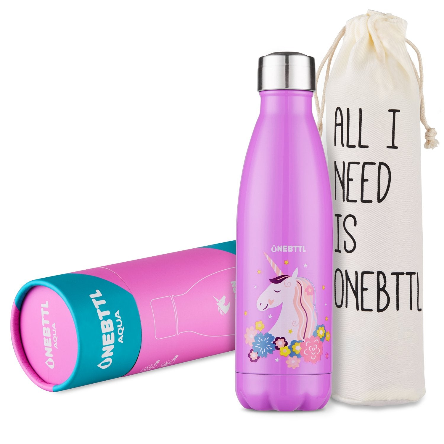 Resusable Kids Water Bottle for Hot or Cold Drinks - Unicorn Water Bottles