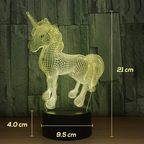 Unicorn Illusion Lamp - Colour Changing (Green)