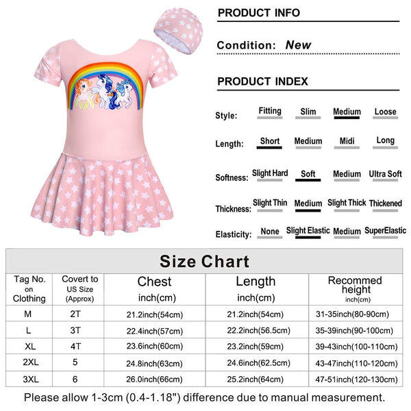 size charts for swimming costume
