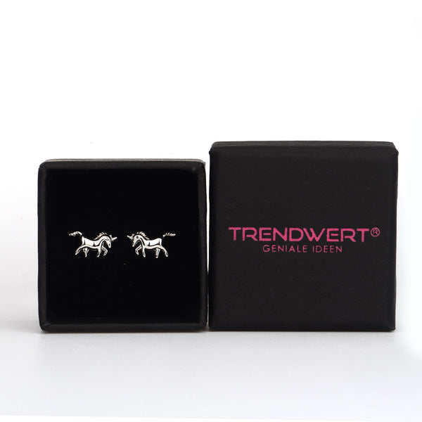 rose gold unicorn earrings gift box