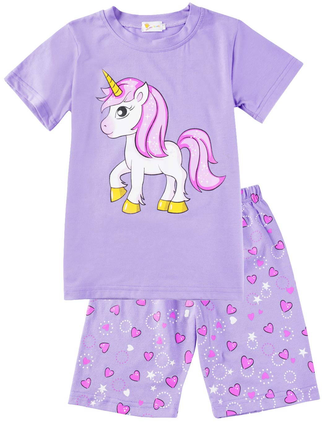 unicorn pjyamas top and shorts