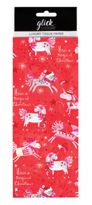 Christmas Unicorn Tissue Paper